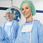 Photo of smiling female surgeon