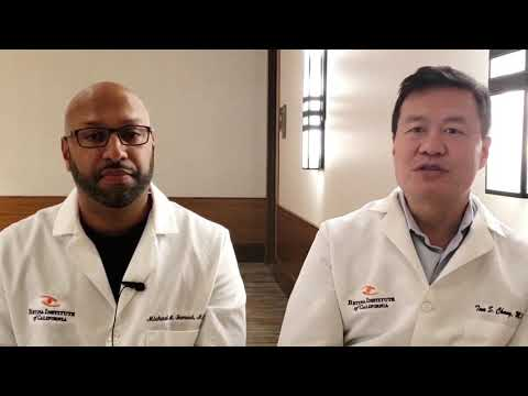 Thumb nail of Tom Chang and Michael Samuel, retina specialists and founders of Acuity Eye Group discussing Acuity 360