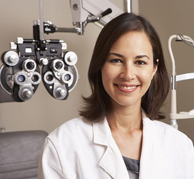 Female Optometrist In Acuity Eye Group Office