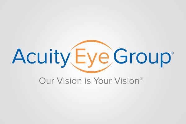 The Acuity Eye Group logo with tagline that read our vision is your vision